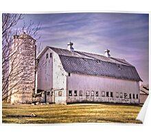Big Wisconsin White Barn Poster