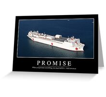 Promise: Inspirational Quote and Motivational Poster Greeting Card