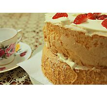 Waiting for Sponge Cake to Rise Photographic Print