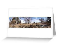open field wide range Greeting Card