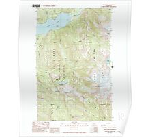 USGS Topo Map Washington State WA Bacon Peak 239890 1989 24000 Poster