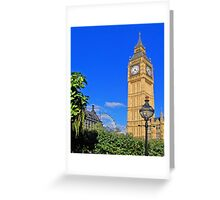 Big Ben and the Clock Tower. London. UK. View 1 Greeting Card