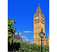 Big Ben and the Clock Tower. London. UK. View 1 Photographic Print