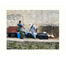 fisherman at work Art Print
