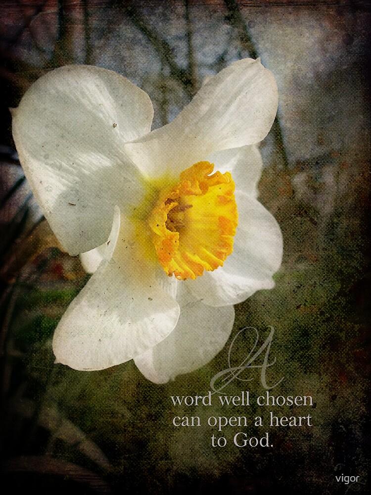 A word well chosen by vigor
