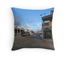 Corner of Shopping Precinct! 'Gulgong', New South Wales. Throw Pillow