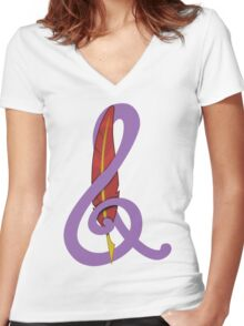 Treble Quill Shirt (Beta) Women's Fitted V-Neck T-Shirt
