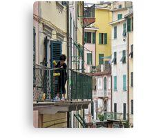 street scene in Riomaggiore Canvas Print