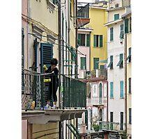 street scene in Riomaggiore Photographic Print