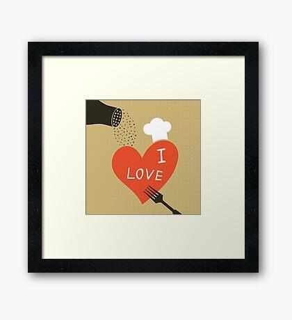 Cooking love Framed Print