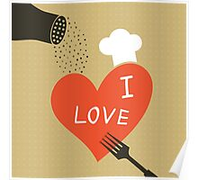 Cooking love Poster