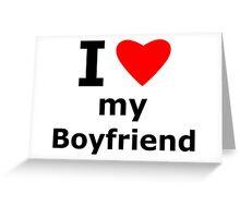 I Heart my Boyfriend Greeting Card