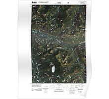 USGS Topo Map Washington State blue lake wa tnm Poster