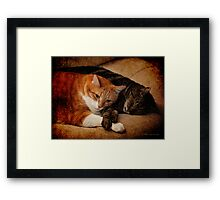 When you are weary,  feeling small Framed Print