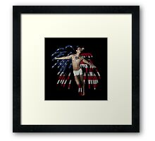 Firework Angel Framed Print