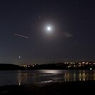 The moon and Venus over Narrabeen Lake by Doug Cliff