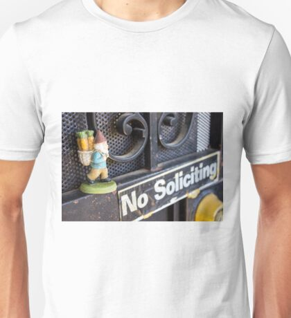No Soliciting Gnome Unisex T-Shirt