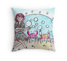 'Without You'...Dancing Crabs and Ukulele  Throw Pillow