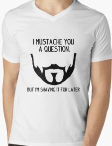 Seneca Crane Question Mens V-Neck T-Shirt