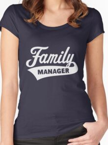 Family Manager (White) Women's Fitted Scoop T-Shirt