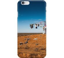 Outback clothesline iPhone Case/Skin