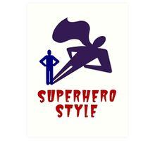 Superhero Style Art Print