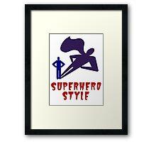 Superhero Style Framed Print