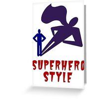 Superhero Style Greeting Card