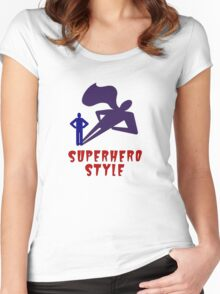 Superhero Style Women's Fitted Scoop T-Shirt