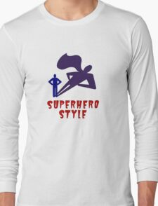 Superhero Style Long Sleeve T-Shirt