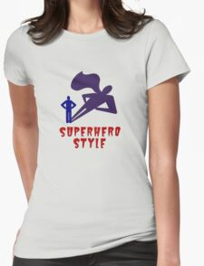 Superhero Style Womens Fitted T-Shirt