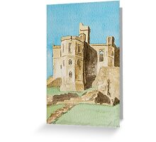 Warkworth Castle, Northumberland Greeting Card