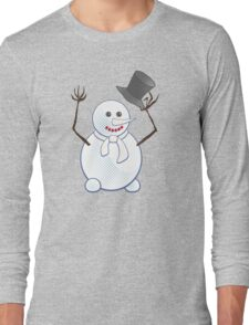 Snowman; New Year; Christmas Long Sleeve T-Shirt