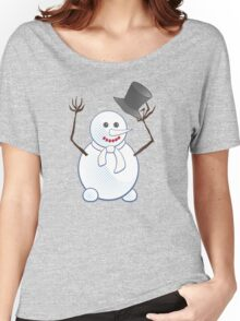 Snowman; New Year; Christmas Women's Relaxed Fit T-Shirt