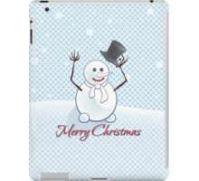 Snowman; New Year; Christmas iPad Case/Skin
