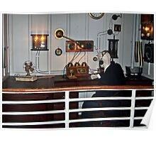 Recreation of the Marconi Room on the Titanic Poster