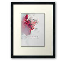 words by rumi Framed Print