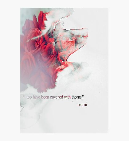 words by rumi Photographic Print