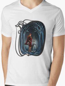 Art Nouveau RED RIDING HOOD Mens V-Neck T-Shirt