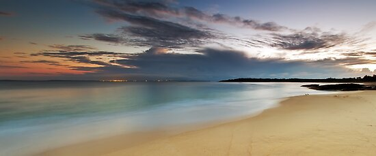 Jibbon Beach Panorama by Mark  Lucey