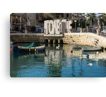 From St Julians With LOVE - Malta's Controversial Inverted Love Statue Canvas Print