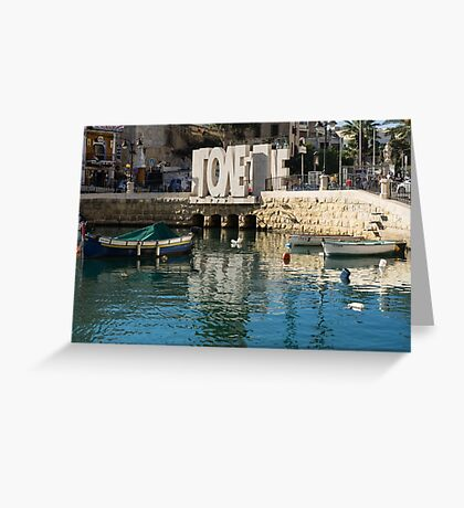 From St Julians With LOVE - Malta's Controversial Inverted Love Statue Greeting Card