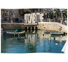 From St Julians With LOVE - Malta's Controversial Inverted Love Statue Poster