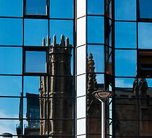 St Andrew's Cathedral in reflection by Glaspark