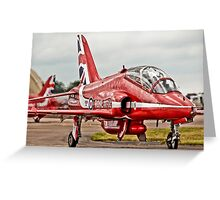 Red Arrows Taxi Greeting Card