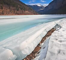 A Crack in Winter by Silken Photography