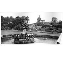 """""""Garden Fountain"""" Poster"""