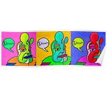 Pop Art Heads by Drenco  Poster