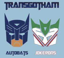 Batman and Transformers - TransGotham Kids Tee