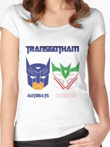 Batman and Transformers - TransGotham Women's Fitted Scoop T-Shirt